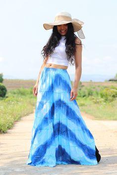 Boho Skirt / Maxi Skirt / Maxi Boho Skirt /Modest Skirt / Beach Skirt /Full Length skirt / Tie Dye Skirt/ Long Skirt Modest Skirts, Boho Skirts, Maxi Skirts, Beach Skirt, Beach Dresses, Full Length Skirts, Summer Looks, Tie Dye Skirt, Elastic Waist