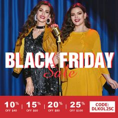 Black Friday & Cyber Monday Sales by Dresslily - shop with an extra off code: Black Friday, Cyber Monday Sales, Dress Lilly, Get Up, Halloween Outfits, Head To Toe, Best Sellers, Shopping, Women