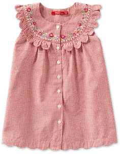 would love this in my size, such sweet scallops and stitching Girls Frock Design, Baby Dress Design, Baby Girl Dress Patterns, Frocks For Girls, Little Dresses, Little Girl Dresses, Baby Frocks Designs, Kids Frocks Design, Little Girl Fashion