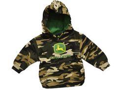 Amazon.com: John Deere Toddler and Little Boys Camo Hooded Sweatshirt Green: Clothing