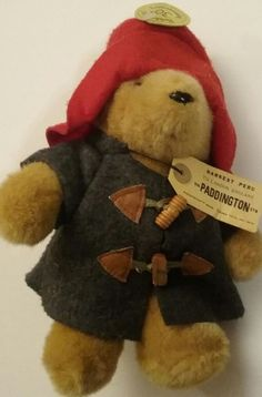 Paddington Bear Plush Eden  Blue Coat Red Hat Vintage   #EdenToys