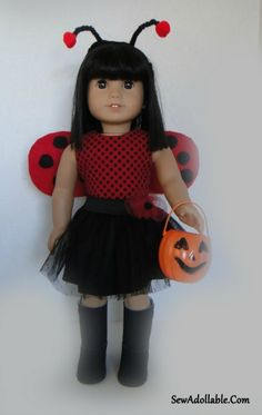 Bumble Bee and Ladybug Costume for American Girl Dolls  2acb23a2e