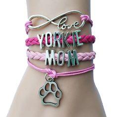 Love Yorkie Mom Bracelet – TeesAwesomeness