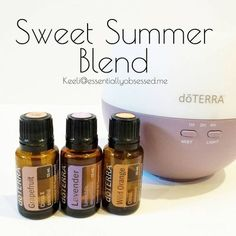 I have been diffusing the Sweet Summer Blend all week and absolutely love it! In your diffuser combine 3 drops each Grapefruit, Lavender and Wild Orange and enjoy the uplifting / relaxing aroma! Essential Oils 101, Essential Oil Diffuser Blends, Lavender Oil Benefits, Doterra Oils, Doterra Blends, Doterra Diffuser, Smoothies, Aromatherapy Oils, Instagram