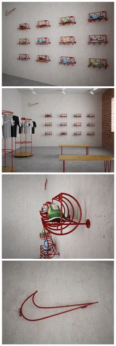 Nike Store Retail Design Amalia, curiosa colocación de los productos Nike, además hay poca variedad de productos (scheduled via http://www.tailwindapp.com?utm_source=pinterest&utm_medium=twpin&utm_content=post30728452&utm_campaign=scheduler_attribution)