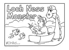 Loch Ness Monster Colouring in picture