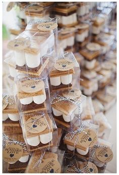 Wedding Favors For Guests, Unique Wedding Favors, Wedding Ideas, Wedding Stuff, Smore Wedding Favors, Country Wedding Favors, Wedding Souvenir, Wedding Images, Handmade Wedding