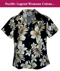 31b4fff6 online shopping for Pacific Legend Ladies Hawaiian Shirt Ladies Hawaiian  Shirt Native Hibiscus Black from top store. See new offer for Pacific Legend  Ladies ...