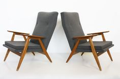 Pierre Guariche set of 2 SK640 armchairs - Steiner | Galerie 44 | DesignAddict