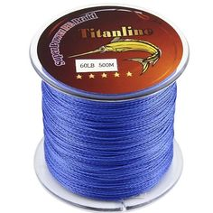 Titanline Super High Grade Fiber PE Briad Braided Fishing Line Blue 60LB 500M Meters *** More info could be found at the image url.