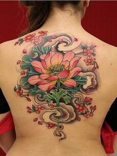 Flower back piece