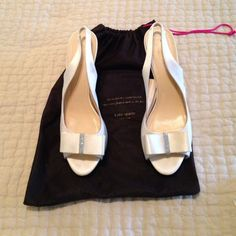 Kate Spade Wedding Shoes Worn on my wedding day for 4 hours. Slight stains on the back of heel and toe area. Size 9. Comfortable, sexy, and glamorous. Looking to sell! kate spade Shoes Heels
