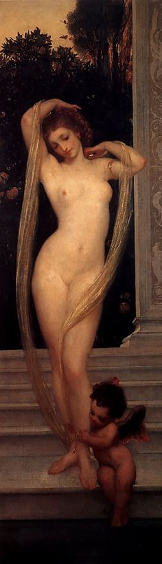 A bather by Lord Frederick Leighton