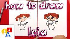 Princess Cartoon, Princess Art, Princess Leia, Art For Kids Hub, Art Hub, Cartoon Drawings Of Animals, Cartoon Girl Drawing, Star Wars Drawings, Easy Drawings