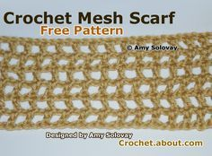 Have Fun Crocheting This Easy Mesh Scarf Pattern: Easy Crochet Mesh Scarf and this crochet mesh pattern can be the basis of many other dress and top patterns