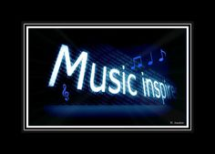 Music Inspires typography 8X10 print by MusicArtandMore on Etsy, $15.00