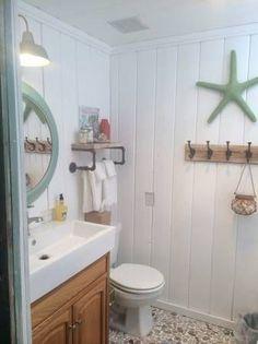 beach cottage bathroom mobile home