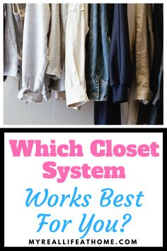 Is your closet a mess? Do you wish it was more organized? Struggling to figure out if you should purchase a closet organization system? Check out my post and see which closet system would work best for you. Hanging Closet Organizer, Closet Storage, Best Closet Systems, Closet Hacks, Closet Ideas, Dorm Organization, Small Closets, Organizing Your Home, Clean House
