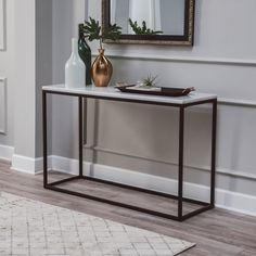 Belham Living Sorenson Rectangular console table with marble top Belham Living Sorenson Rectangle Console Table with Marble Top - Marble Table Designs Dining Table, Console Tables, Marble Console Table, Marble Tables, Marble Top Table, Console Table Living Room, Hall Tables, Console Table Styling, Side Tables