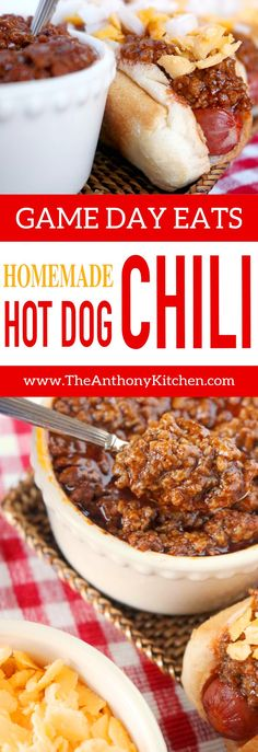Easy Homemade Hot Dog Chili Recipe | A quick-fix hot dog sauce recipe featuring ground beef, ketchup and the perfect mix of spices. It's an upgrade to canned chili and a recipe that won't leave you regretting that second chili dog | #homemadehotdogchili #hotdogsauce #easyhotdogchili #groundbeefrecipe #gamedayfood #footballfood