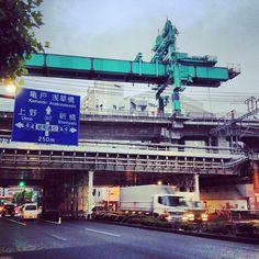 Constructing the new Tohoku Jukan line between Ueno and Tokyo stations