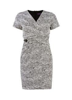 Buckle printed dress