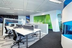 Adidas HQ office, Shanghai, China  Workstations large sport design company