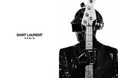 DAFT PUNK BY HEDI SLIMANE FOR SAINT LAURENT PARIS!