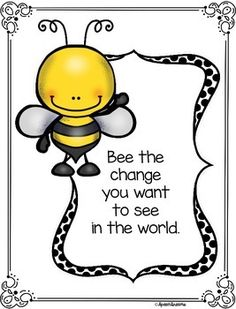 by Speech Dreams Bee Bulletin Boards, Bee Quotes, Farm Quotes, Bee Images, Spelling Bee, Bee Friendly, Bee Cards, Bee Theme, Save The Bees