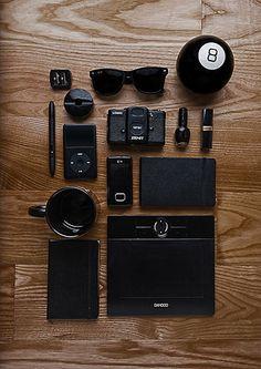 designer black  via things neatly organized