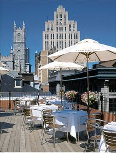 Summer 5 à 7, Terrasse Nelligan, Montreal. Rooftop bar and restaurant in Old Montreal. open 3-11. Would be a good happy hour/ sunset spot