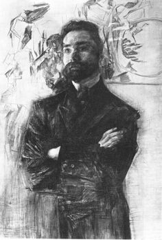 "Description of the painting by Mikhail Vrubel ""Portrait of Valery Bryusov""Description picture - Mikhail Vrubel Russian Painting, Russian Art, Guy Drawing, Painting & Drawing, Drawing People, Toulouse, Art Nouveau, Soviet Art, Renaissance Paintings"