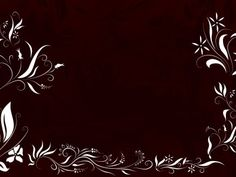 Black Swirly Frame Background Wallpaper