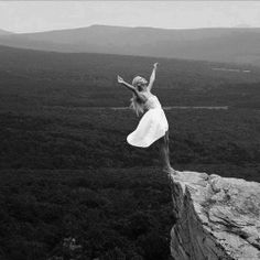 On the edge, fearless and free