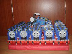 Thomas de trein, achterkant zakje (haribo) snoepjes