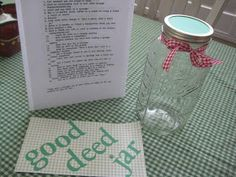 "Creative Party Ideas by Cheryl: 24 days to Christmas ""Good Deed Jar"""