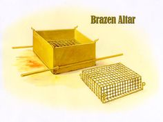 Tabernacle - Altar of Burnt Offering - Brazen Altar
