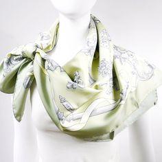 Authentic Vintage Hermes Silk Scarf Ferronnerie Pastel Colorway UNWORN – Carre de Paris