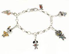 Silver Belcher Bracelet with 5 Frightlings