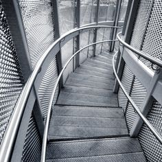 UK - London 2012 - Olympic Park - Orbit stair_sq mono | Flickr - Photo Sharing!