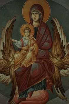 I don't have any details re the artist here- if you do, please leave a note n the comments for me! Byzantine Icons, Byzantine Art, Religious Icons, Religious Art, Pintura Colonial, Greek Icons, Sainte Marie, Holy Mary, Roman Art