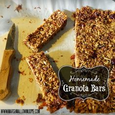 Marshmallow Mudpie: Our Favorite Granola Bars