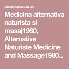 Medicina alternativa naturista si masaj1980, Alternative Naturiste Medicine and Massage1980,: Pistrui, piele patata, tratament