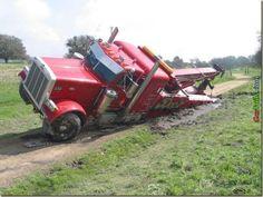 A newer wrecked wrecker
