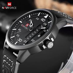 NAVIFORCE Fashion Casual Mens Watches Top Brand Luxury Leather Business Quartz-Watch Men Wristwatch Male Clock Relogio Masculino