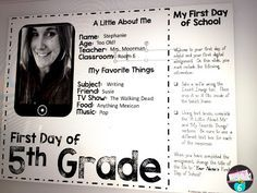 "Using Google Docs to create an ""all about me"" page on the first day of school.  {free for Grades 1 -12 on blog!!}"