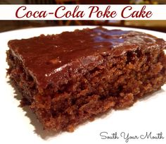 Coca-Cola Poke Cake (Sounds interesting) I am going to substitute my GF ingredients and will let you know how that goes.