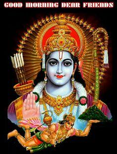 The Sri Rama Raksha Ashtakshari Homam is helps to eliminate problems and bring happiness in life. Morning Pictures, Good Morning Images, Lord Sri Rama, Shiva Lord Wallpapers, Jai Hanuman, Spirituality Books, Shree Krishna, Wallpaper Pictures, Gods Love