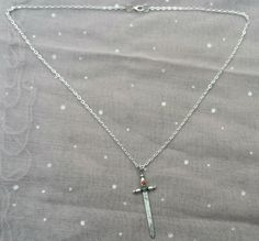 Silver Sword Necklace by ShadowRevolutions on Etsy, $7.50