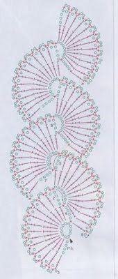 Crochet scarf diagram